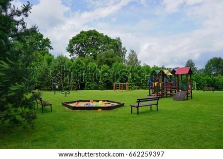 Children play area - toys outdoor - Children's Playground ストックフォト ©