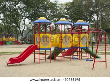 Children playground colorful