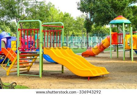Children playground in park #336943292