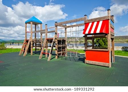 Children playground in summer Zdjęcia stock ©
