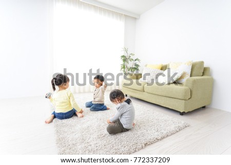 Children playing at home #772337209
