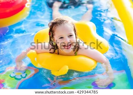 Beach girl child images for Baby garden pool