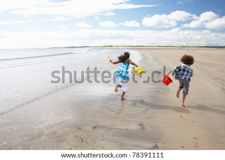 Children playing on beach