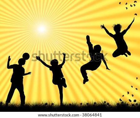 stock photo : children playing sports
