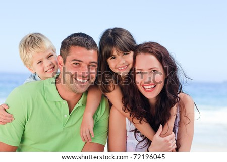 Children playing with their parents