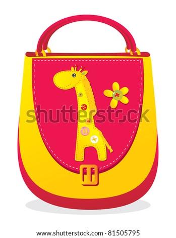 "Children's bag with sewn applique ""Giraffe"""