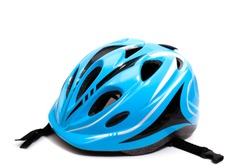 children's bicycle helmet. isolated on white background. copy space.