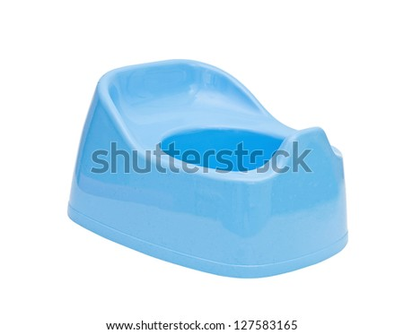 children's blue pot on a white background