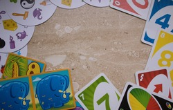 children's board games. games uno