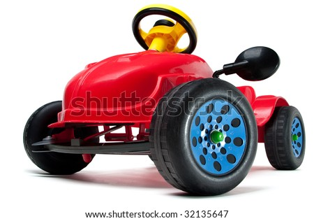 Children's car isolated on a white background