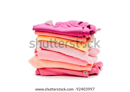Children's clothes on a white background