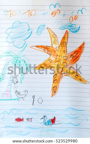 Children's drawings idea design #523529980