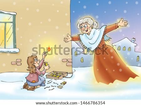 children's fairy tales The Little Match Girl