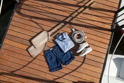Children's fashion - a set of children's nautical clothing.