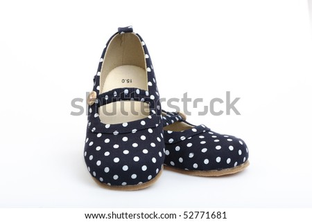 Children's footwear on a white background