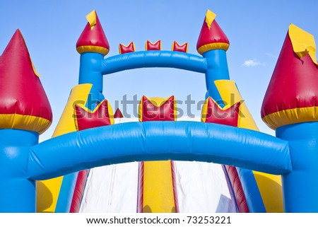 Children's Inflatable Castle Playground - stock photo