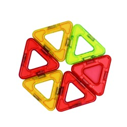 Children's magnetic designer. Detail, two triangles isolated on white background.