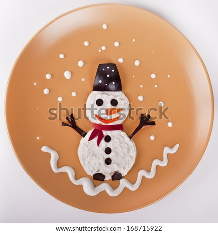 "Children's meal ""Merry curd snowman"""