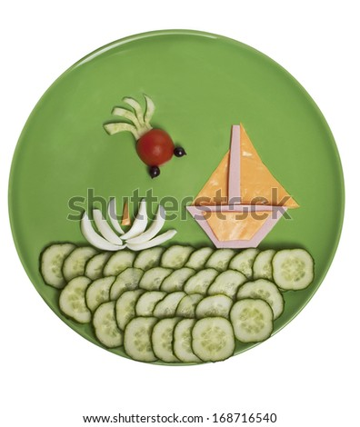 "Children's meal ""Sailboat"""