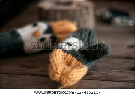 Children's mittens  / wool mittens #1274152117