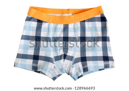 Children's pants isolated on a white background - stock photo