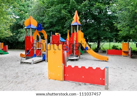 children's play area in the park
