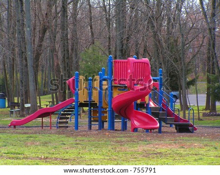 CHILDREN'S PLAY EQUIPMENT IN A PUBLIC PARK
