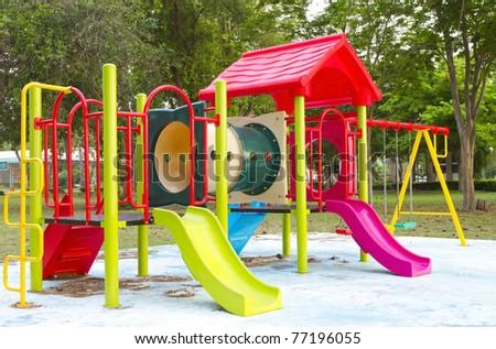 children's playground - stock photo