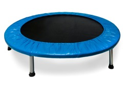 Children's round sports trampoline isolated on a white background
