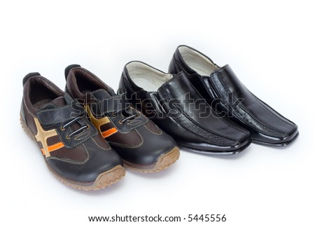 Children's shoes on an isolated background
