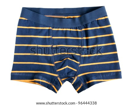 Children's striped pants isolated on a white background