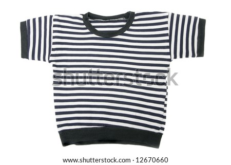 Children's striped vest isolated over white background