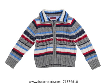Children's stripy sweater. Isolated on white background.