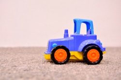 children's toy, blue tractor