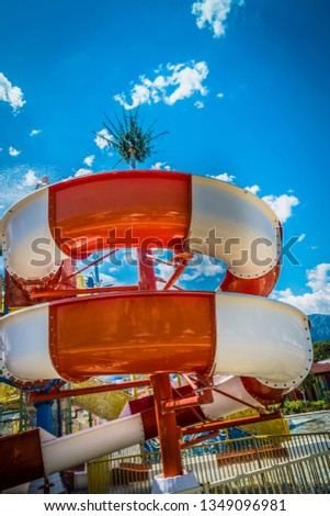 Children's water park at the resort #1349096981
