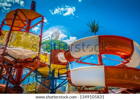 Children's water park at the resort #1349105831