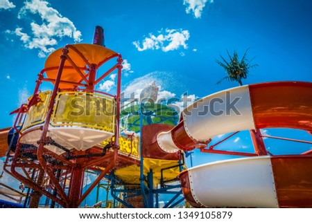 Children's water park at the resort #1349105879