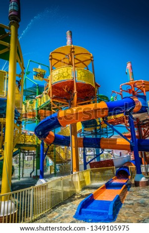 Children's water park at the resort #1349105975