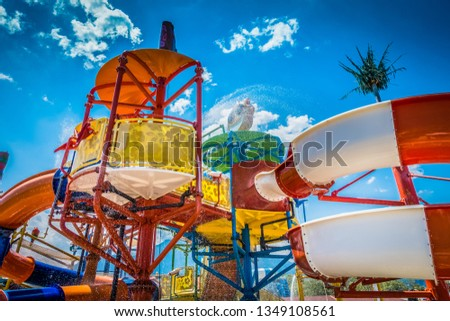 Children's water park at the resort #1349108561