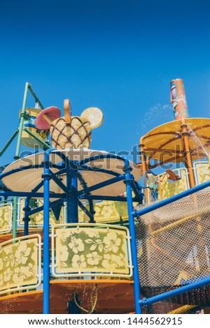 Children's water park at the resort  travel recreation background #1444562915