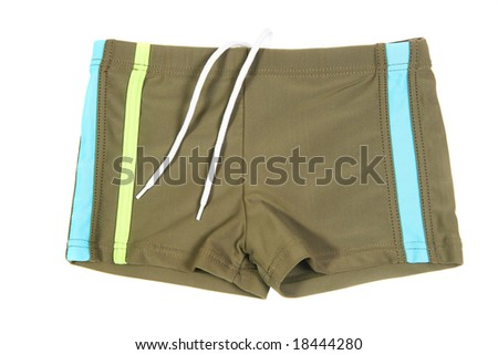 Children's wear - boys pants isolated over white background