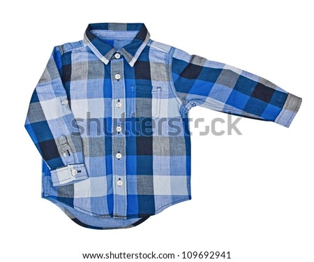 Children's wear - shirt isolated over white background
