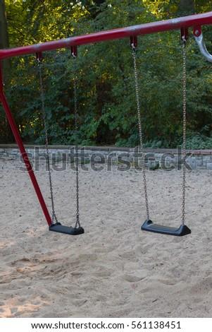 Children swing in the park #561138451