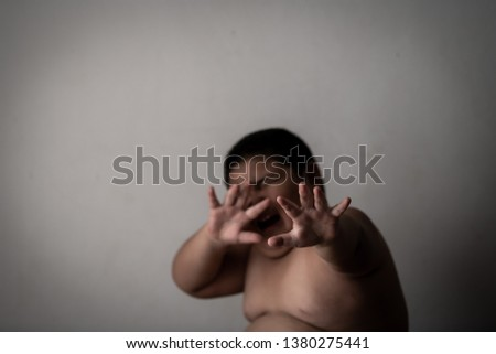Children violence and abused concept #1380275441