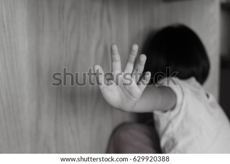 Children violence and abused concept.