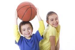 children with basketball