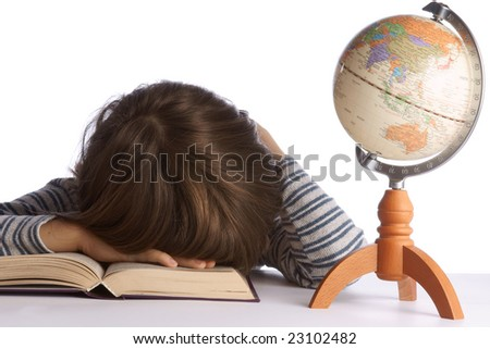 Children with books - stock photo
