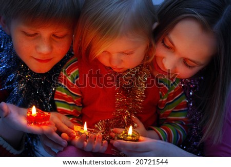 children with candle