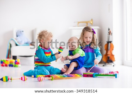 children with music instruments....