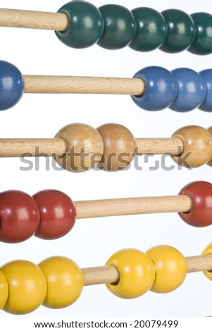 childrens abacus - calculator with all beads at random sides